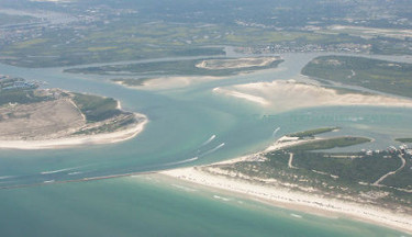 ariel view ponce inlet new smyrna beach fishing nate lemmon