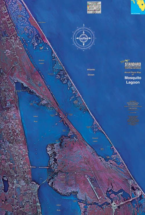 Mosquito Lagoon Map Indian River Lagoon Map - Indian river lagoon map
